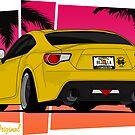 86ZILLA - Yellow - Sticker by BBsOriginal