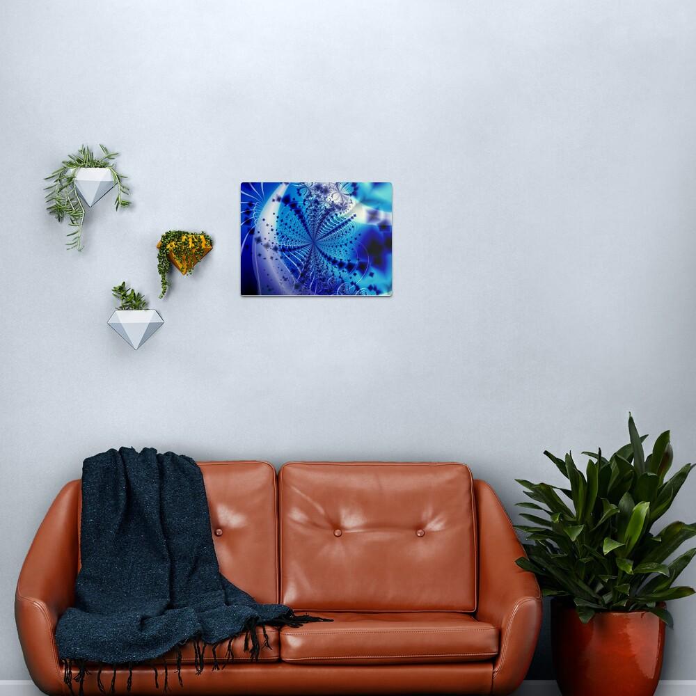 Whirlpool Blue Art Metal Print