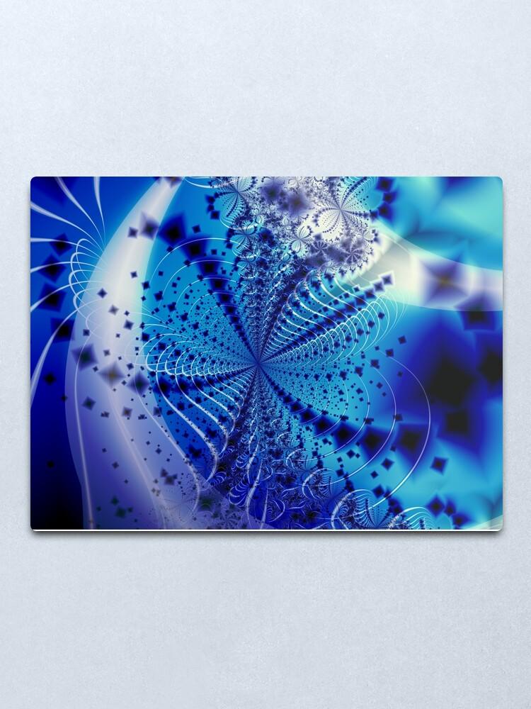 Alternate view of Whirlpool Blue Art Metal Print