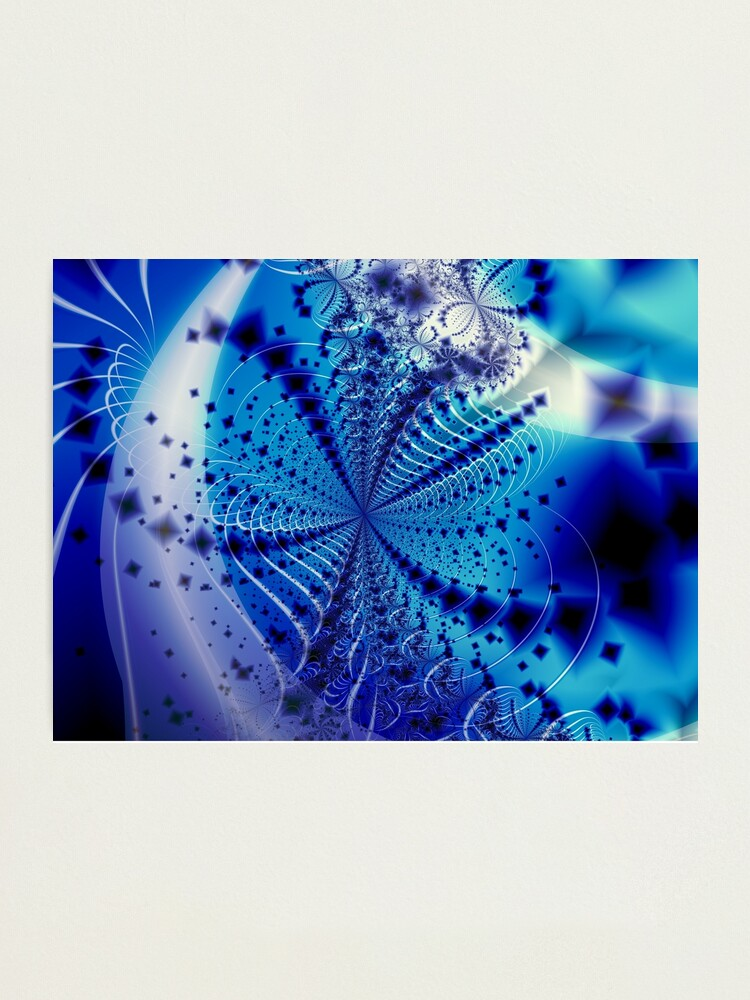 Alternate view of Whirlpool Blue Art Photographic Print
