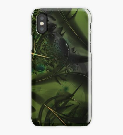 Green Forest Art iPhone Case