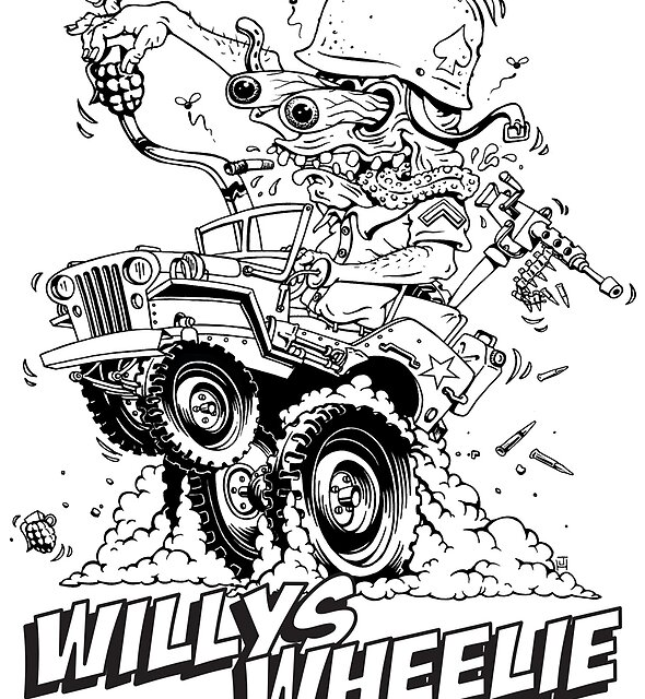Willys Wheelie! by artwork-a-go-go