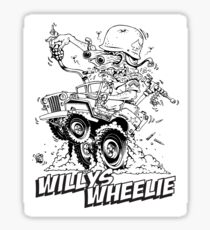 Willys Wheelie! Sticker