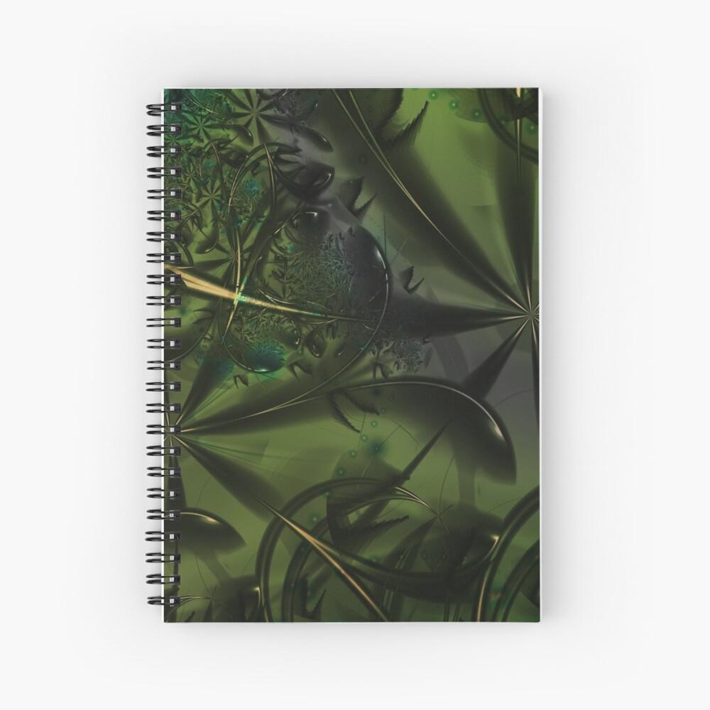Green Forest Art Spiral Notebook