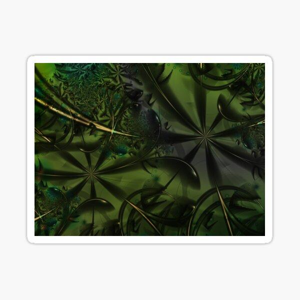 Green Forest Art Sticker