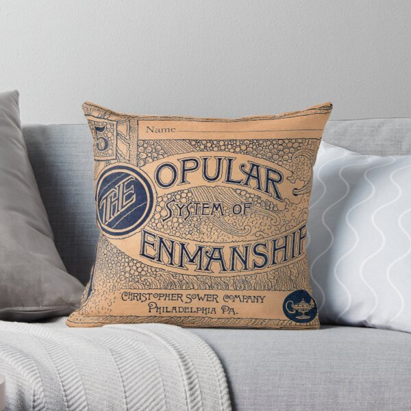 The Popular System of Penmanship Throw Pillow