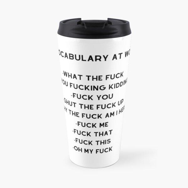 My Vocabulary At Work Travel Mug
