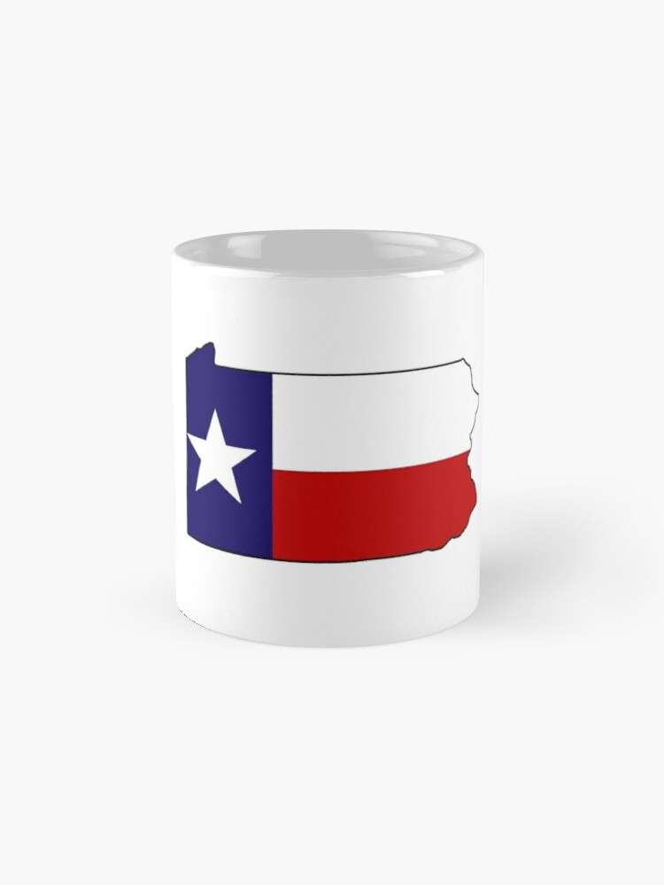Alternative Ansicht von Texas Flagge Pennsylvania Gliederung Tasse