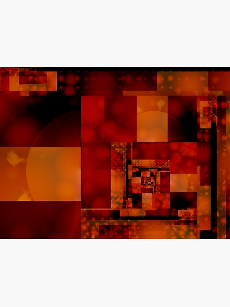 City Abstract - Fire Red by garretbohl