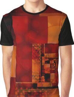 City Abstract - Fire Red Graphic T-Shirt