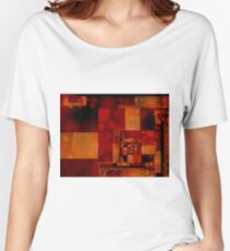 City Abstract - Fire Red Women's Relaxed Fit T-Shirt