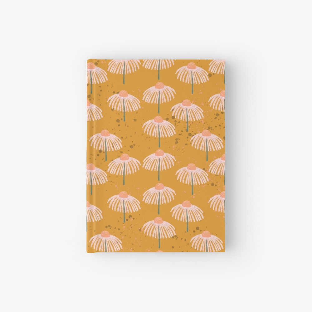 Daisy - Peach and Orange Hardcover Journal