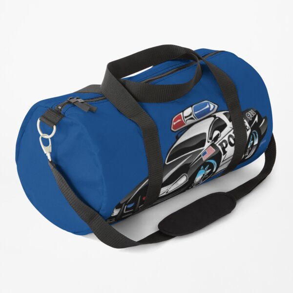 Police Muscle Car Cartoon Duffle Bag