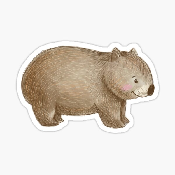 Aussie Animals: Wombat Sticker