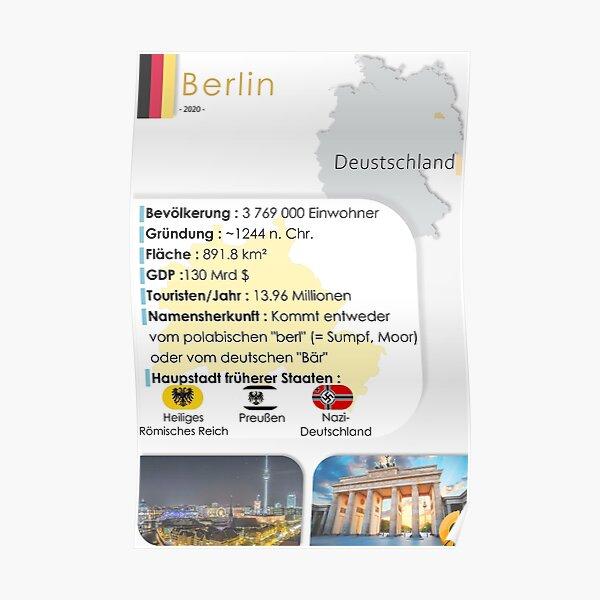 Berlin - Poster, Deutsch Poster