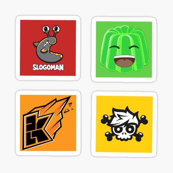 Slogo, Jelly, Crainer and Kwebbelkop Sticker