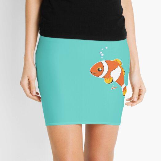 Harley the Clown Fish 1 Mini Skirt