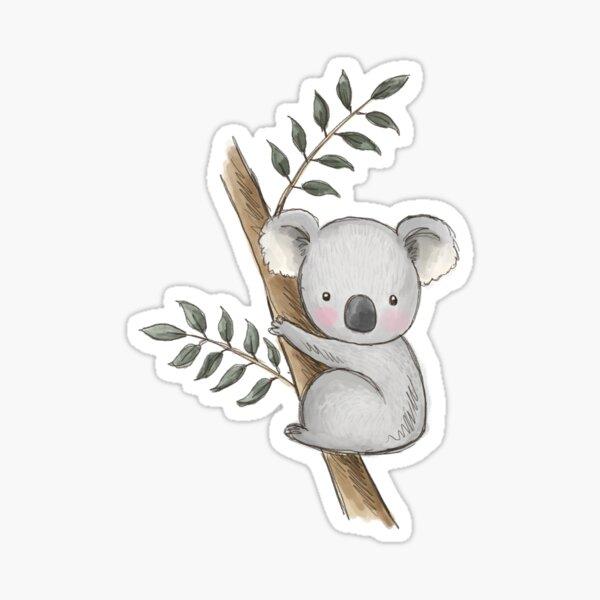 Aussie Animals: Koala in a tree Sticker