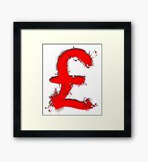 Red Pound Framed Print
