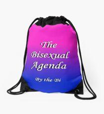 The Bisexual Agenda Drawstring Bag