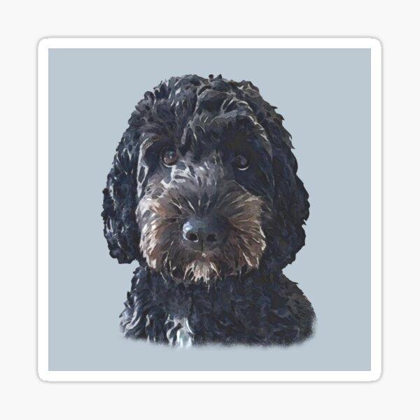 Black Doodle Dog  Sticker