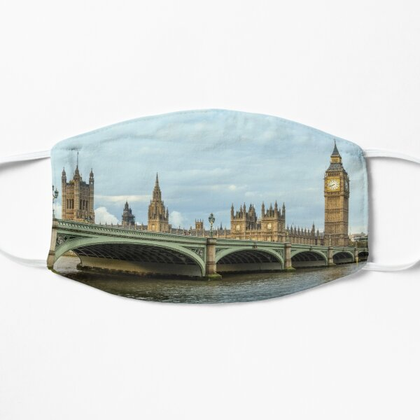 Westminster Bridge and Big Ben, London Flat Mask