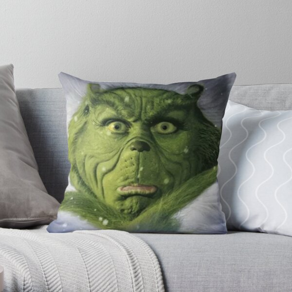 He stole Christmas  Throw Pillow