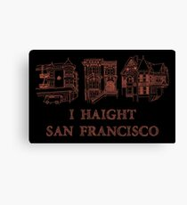 I Haight San Francisco Orange Canvas Print