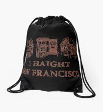 I Haight San Francisco Orange Drawstring Bag