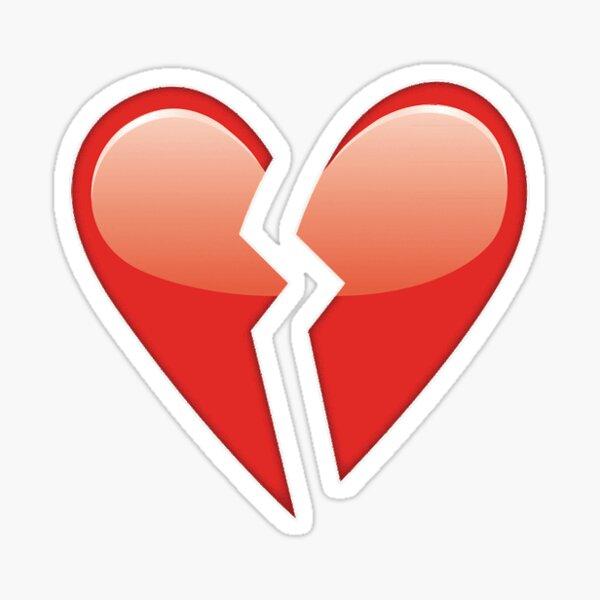 Corazón roto Pegatina