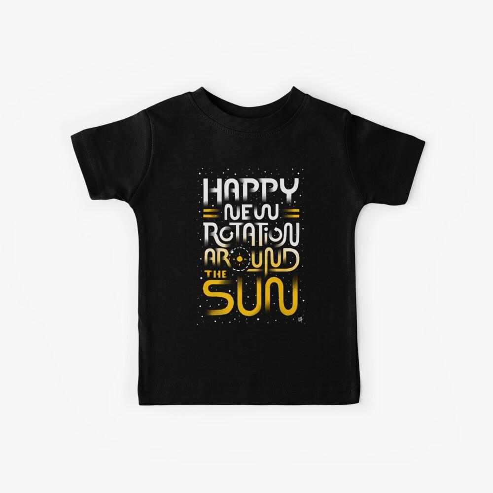 Glückliche neue Drehung um die Sonne Kinder T-Shirt