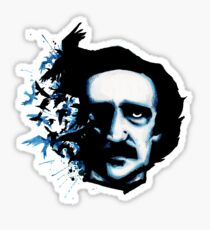 Edgar Allan Poe Crows Sticker