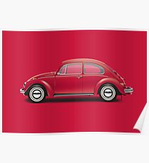 1970 Volkswagen Beetle - Royal Red Poster