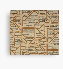 Travel by tube Canvas Print