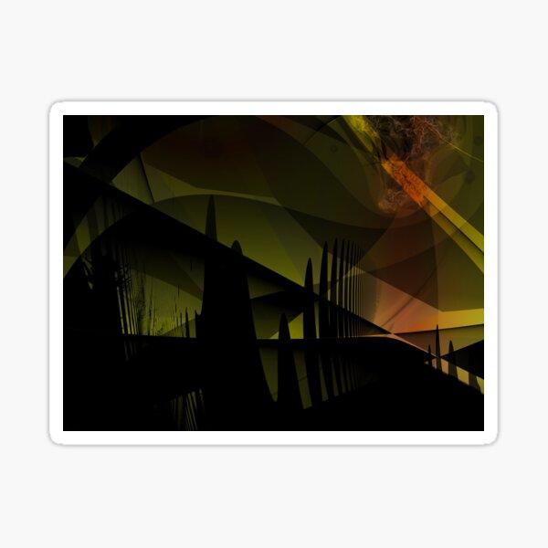 Abstract Landscape Art Sticker