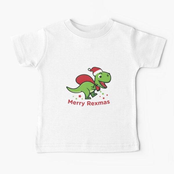 Merry Rexmas | Cute Trex Santa Christmas Baby T-Shirt