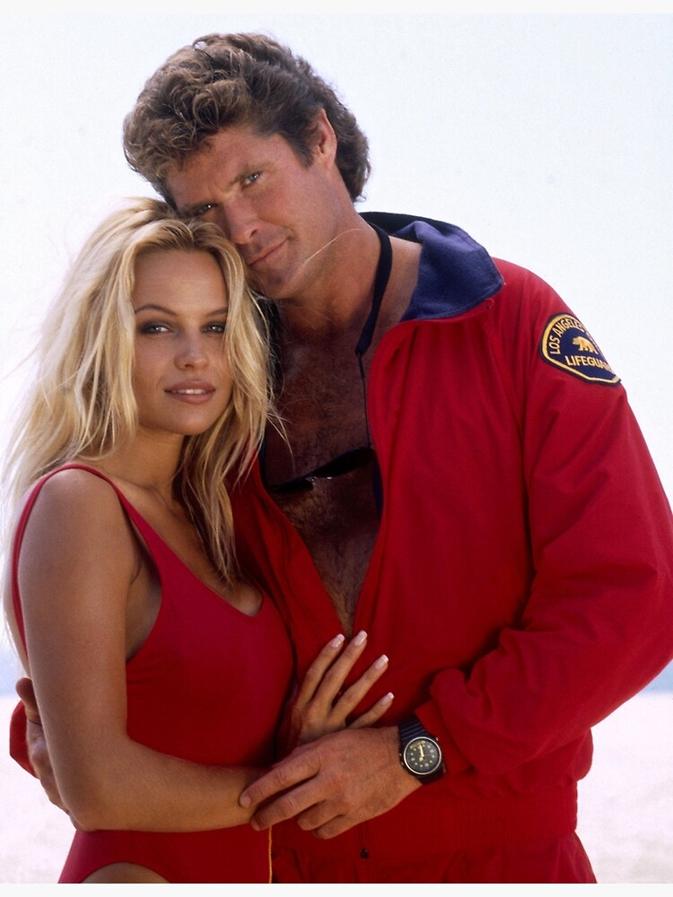 David Hasselhoff and Pamela Anderson by harrisonbrowne