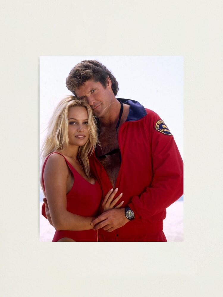 Alternate view of David Hasselhoff and Pamela Anderson Photographic Print