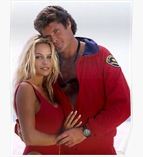 David Hasselhoff and Pamela Anderson Poster