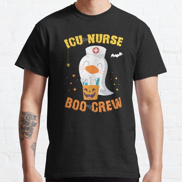 Icu Nurse Boo Boo Crew Funny Cute Halloween Nurse Ghost Classic T-Shirt