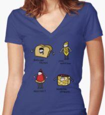 Bakery Street & Shortcake Yard Women's Fitted V-Neck T-Shirt