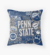 Penn State Collage Throw Pillow