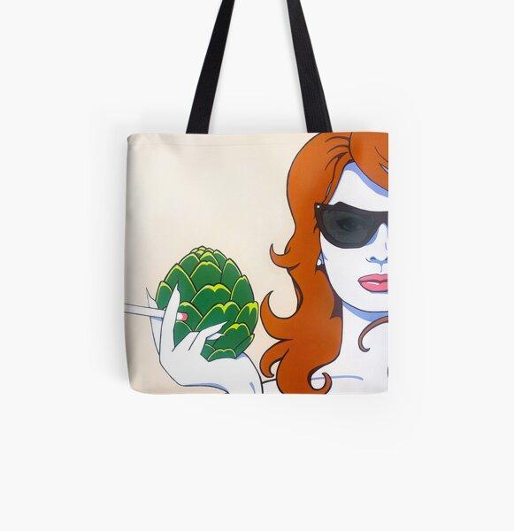 "Sophia Loren, ""This Ain't No Peach!"" All Over Print Tote Bag"