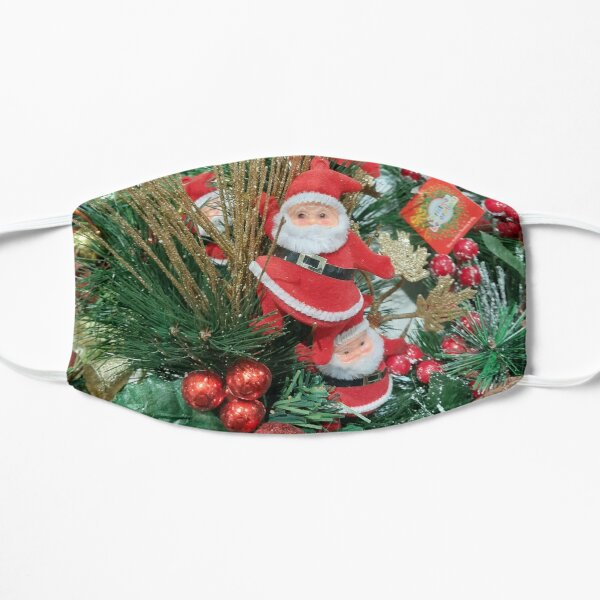 Little Santa Claus Pine Cones Flat Mask
