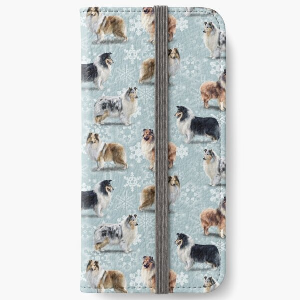 The Christmas Rough Collie iPhone Wallet