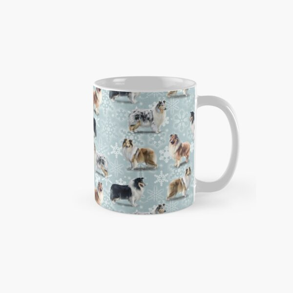 The Christmas Rough Collie Classic Mug
