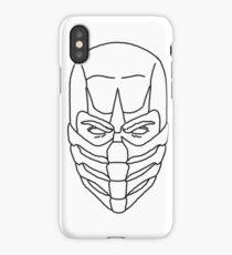 Mortal Kombat Scorpion - Outline Sketch iPhone Case