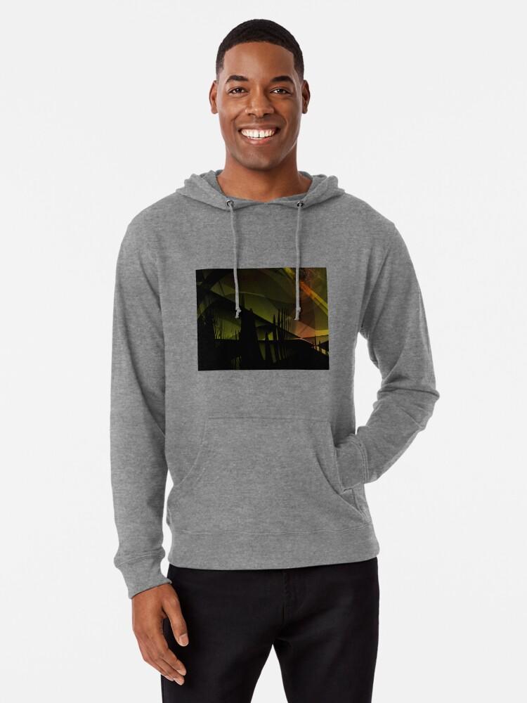 Alternate view of Abstract Landscape Art Lightweight Hoodie