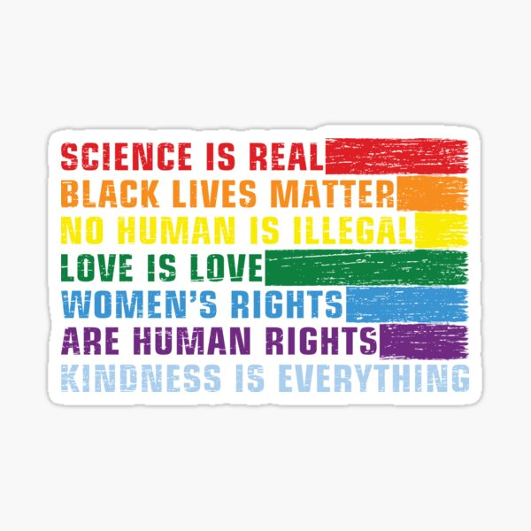 Science Is Real - Black Lives Matter Sticker