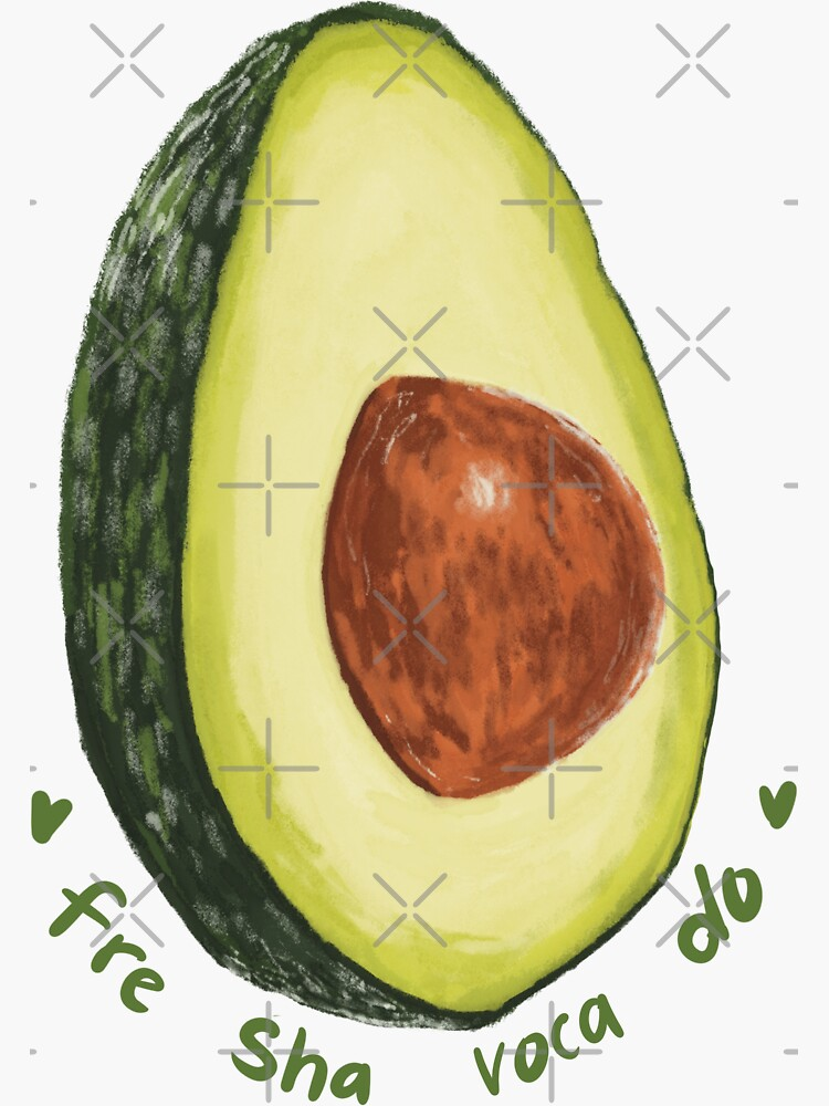 Fre Sha Voca Do Avocado Sticker by CallieBarbas